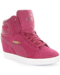 PUMA - Vikky Wedge Women's Shoes (high-top Trainers) In Multicolour - Lyst
