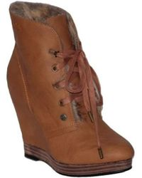 Big Star - L274371b Women's Low Ankle Boots In Brown - Lyst