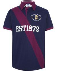 Ellis Rugby - Varsity Polo Shirt Men's Polo Shirt In Blue - Lyst