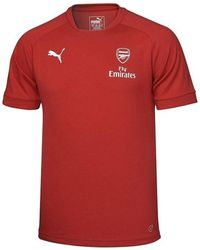 PUMA - 2017-2018 Arsenal Casual Performance Tee (chilli Pepper) Men's T Shirt In Red - Lyst