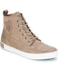 Blackstone - Amerlo Men's Shoes (high-top Trainers) In Grey - Lyst