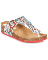 Desigual - Libra-microrapport Women's Flip Flops / Sandals (shoes) In Red - Lyst
