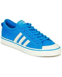 best service 401d0 c1625 adidas - Nizza Mens Shoes (trainers) In Blue - Lyst