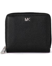MICHAEL Michael Kors - Black Tumbled Leather Wallet Women's Purse Wallet In Black - Lyst