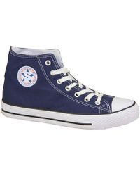 Smith's - 1043navy Women's Shoes (high-top Trainers) In Multicolour - Lyst