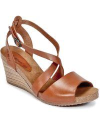 Kickers - Spagnol Women's Sandals In Brown - Lyst