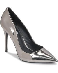 c9eab75215a Steve Madden Proto Pointed Toe Studded Pumps in Metallic - Lyst