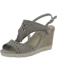 The Flexx - B606/25 Wedge Sandals Women Grey Women's Sandals In Grey - Lyst