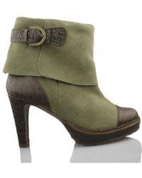 Vienty - Booty Elegant Heel Women's Low Ankle Boots In Green - Lyst