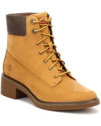 b8b2e6d33f8beb Timberland - Womens Wheat Yellow Brinda 6 Inch Boots Women s Mid Boots In  Brown - Lyst