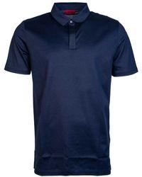 BOSS Black - Polo Shirts Model Quot;djam 50384997 Quot; Men's Polo Shirt In Blue - Lyst