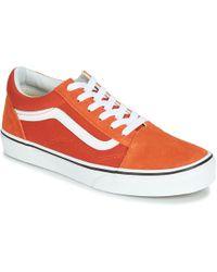Vans - OLD SKOOL femmes Chaussures en orange - Lyst