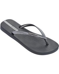 8e02b8719ac2 Ipanema - Sparkle Flip Flops In Dark Grey 81515 Women s Flip Flops   Sandals  (shoes