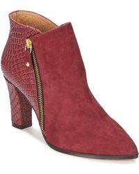 Fericelli - Maissa Women's Low Ankle Boots In Red - Lyst