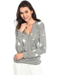 Baukjen - Pullover Loxley Intarsia Heather Grey / White Women's Jumper In Grey - Lyst