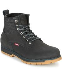 Levi's | Levis Logan Men's Mid Boots In Black | Lyst