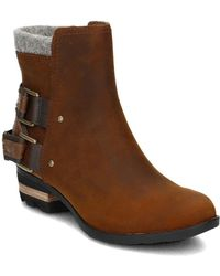 Sorel - Lolla Women's Low Ankle Boots In Brown - Lyst