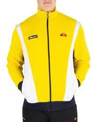c7410cf7 Ellesse Men's Squad Logo Tracktop, Brown Men's Jacket In Brown in ...