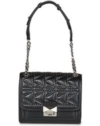 Karl Lagerfeld - K/kuilted Studs Small Handbag Women's Shoulder Bag In Black - Lyst