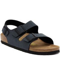 Birkenstock - Milano Basalt Men's Sandals In Blue - Lyst