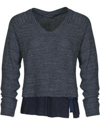 Mado Et Les Autres - 2 In 1 Jumper, Shirt Effect 18hpul110_bl002 Navy Blue Woman Ah Women's Jumper In Blue - Lyst