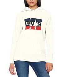 Levi's - Levis - Women's Hoodie Graphic Sport Women's Sweatshirt In White - Lyst