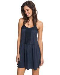 Roxy - Vestido Erjkd03167-btk0 Azul Women's Dress In Blue - Lyst