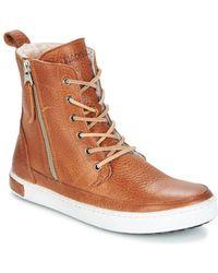 Blackstone - Cw96 Women's Shoes (high-top Trainers) In Brown - Lyst