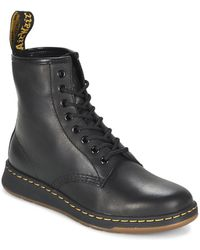 Dr. Martens | Newton Men's Mid Boots In Black | Lyst