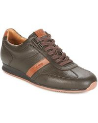 BOSS by Hugo Boss - Orland Lowp Tb Men's Shoes (trainers) In Brown - Lyst