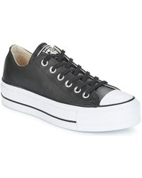 ee6b8b679410f5 Converse - Chuck Taylor All Star Lift Clean Ox Women s Shoes (trainers) In  Black