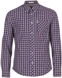 20bf38980bd Ben Sherman - Ls House Check Men's Long Sleeved Shirt In Purple - Lyst