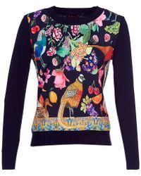 Desigual - Astrix Women's Sweater In Black - Lyst