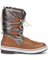 Le Coq Sportif - Minka Snow Boot Women's Snow Boots In Grey - Lyst