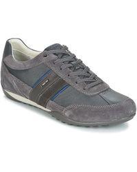 Geox - U Wells C Men's Shoes (trainers) In Grey - Lyst