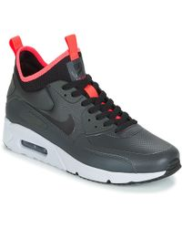 various colors 50ecb 45fe5 Nike - Air Max 90 Ultra Mid Winter Men s Mid Boots In Grey - Lyst