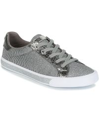 Guess | Meggie Women's Shoes (trainers) In Silver | Lyst