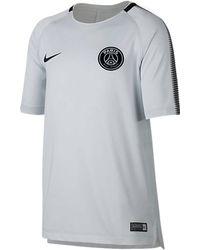 Nike - 2017-2018 Psg Training Shirt (pure Platinum) - Kids Women's T Shirt In Grey - Lyst