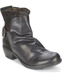 Fly London - Mel Women's Mid Boots In Black - Lyst
