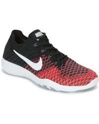 88786c7ef0ce Nike - Free Trainer Flyknit 2 W Women s Trainers In Black - Lyst
