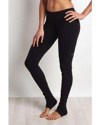 Alo Yoga - Goddess Ribbed Legging Black/black Women's Tights In Black - Lyst