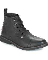 Levi's - Levis Track Men's Mid Boots In Black - Lyst