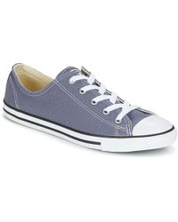 6d9f4042d4f Converse - Chuck Taylor All Star Dainty Ox Women s Shoes (trainers) In Blue  -