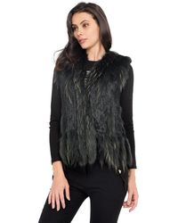 Oakwood - Sleeveless Fur Gilet Women's Sweater In Green - Lyst