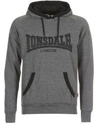 Lonsdale London - Ashford Hill Men's Sweatshirt In Grey - Lyst
