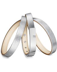 Ursul - Bracelet U-turn Triple Lamb Silver Woman Autumn/winter Collecti Women's Bracelet In Silver - Lyst