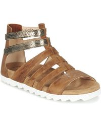 Think! - Dufde Women's Sandals In Brown - Lyst