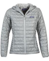 Patagonia - W's Nano Puff Hoody Women's Jacket In Grey - Lyst