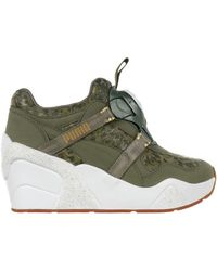 PUMA - Disk Wedge Nc Women's Shoes (high-top Trainers) In Green - Lyst