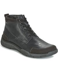 Josef Seibel - Phil 03 Men's Shoes (high-top Trainers) In Black - Lyst